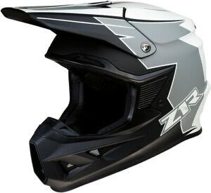 Z1R F.I Hysteria Adult ATV Offroad UTV DOT Helmet Gray/White All Sizes