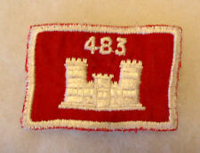 "NAM ERA 483RD CORP OF ENG POCKET PATCH ON TWILL GAUZE BACK 2 5/16""W 1 5/8""T CE"