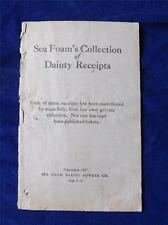 SEA FOAMS BAKING POWDER COLLECTION OF DANITY RECIPES VINTAGE 1907 ADVERTISING