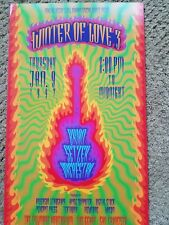 BRIAN SETZER ORCHESTRA FILLMORE POSTER Bill Graham ORIGINAL Winter Of Love