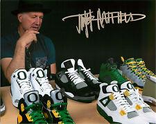 save off 2c2d6 4a2ef Tinker Hatfield Signed Nike Air Jordan 4 Oregon Ducks 8x10 Photo Proof COA