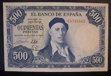 1954 Spain, Bank of, 500 Pesetas, Nice High Grade Note   ** FREE U.S SHIPPING *