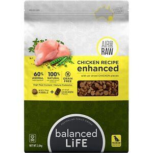 Balanced Life Enhanced Grain Free Kibble & Air-Dried Raw Dog Food - Chicken - 2.