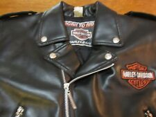 Harley Davidson Kids Biker Jacket with Patches & Metal buttons & Metal zippers