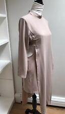 Love Women's Dress Open On The Side Size 12 Color Nude Beige