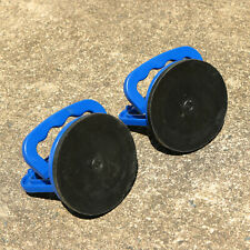 Set of 2 Heavy Duty Glass Lifter - Blue Suction Cup Sheet Glass Holder or Mover