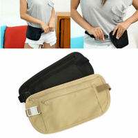 Travel Money Belt Hidden Waist Security Wallet Bag Passport Pouch Holder