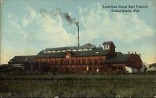 Grand Island Ne American Sugar Beet Factory c1910 Postcard