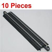 "NEW Bachmann 9"" Straight E-Z Train Track (10 Pieces) HO Scale BAC44481 x10"