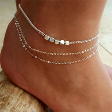 Multilayer Boho Barefoot Sandal Beach Anklet  Foot Chain Jewelry Ankle  Bracelet