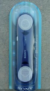 New Sony Active Speaker System SRS-T33 Compact Portable Travel Speaker Blue