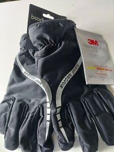 BOODUN Mens Winter Gloves Black Size Large Warm Insulated BNWT