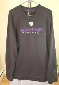 Baltimore Ravens NFL Rebook Vintage Black Ravens Football XL Sweatshirt