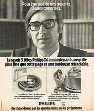 PUBLICITE ADVERTISING 114  1974  PHILIPS  rasoir 5