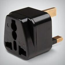 Universal Power Adaptador EU 2 pin a pin 3 Reino Unido Negro Converter (compre 1 lleve 1 Gratis)
