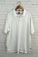 Men's Adidas XL ClimaLite Stretch Golf Polo Shirt White Short Sleeve Soft Tshirt