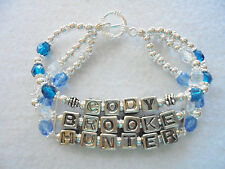 Personalized Mommy Mother Mom Bracelet 3 Name 3 Strand by J&K Originals
