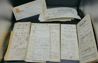 Land Deed & Check Lot Stamps Licking County OH 1850 1880 Historical Documents!