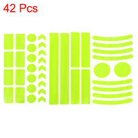 42pcs Yellow Reflective Safety Warning Strip Tape for Car Bumper