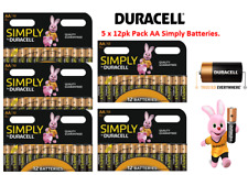 Duracell Simply AA ,5 x 12pk {60 Batteries} Great Value Range from Duracell.