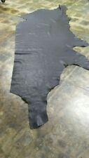 Hide Cowhide Top Quality leather skin hide Very Soft Dark Navy Blue   21 Sq.Ft.