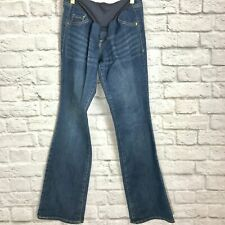 "Old Navy Maternity Jeans Dark Wash Flare Bell Bottoms Inseam 33"" Women's Size 6"
