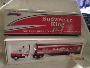 BUDWEISER KING TOP FUEL RACING TRANPORTER ERTL  1/64 kenworth T600 ANT EATER