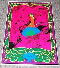 MYSTIC SEA 1972 Blacklight Poster Psychedelic Nude Girl Smoking Weed Marijuana