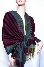 Border Pattern Thicker Pashmina Shawl / Wrap / scarves 23 colors  us wholesaler