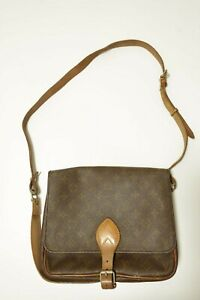 Authentic Louis Vuitton Cartouchiere GM Shoulder bag brown #8634