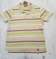 Puma Men's Polo Shirt Striped Large Multi-Color Short Sleeve Collar