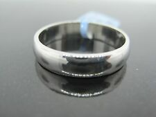 White Gold Wedding Band Ring 10KT Size 11
