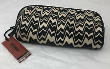 Missoni Black and White Zig-Zag Makeup Kit Rectangle Glasses Purse Organizer NWT