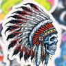 21 Skull Totenkopf Indianer Retrosticker Retro Aufkleber Sticker Mix Decals cxc