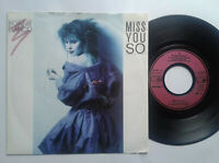 "Bonnie Bianco / Miss You So 7"" Vinyl Single 1987 mit Schutzhülle"