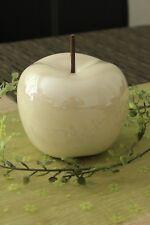 Deko Apfel 13cm Keramik rosé creme glasiert glänzend Objekt Dekoapfel Figur Obst