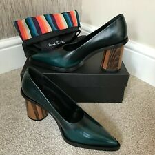 Paul Smith Principal Vert Ombré Cuir MALI Chaussures Taille UK 7 Détail Bnib