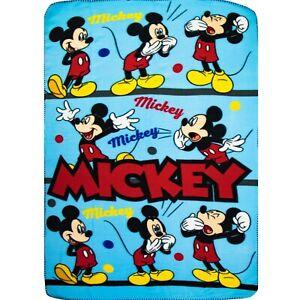 Mickey Mouse Character Fleece Blanket Throw Bedroom Children Kid Disney TH4268