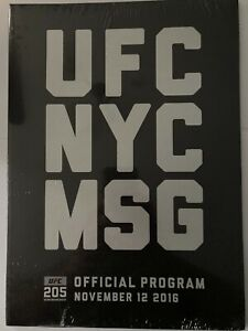 UFC 205 NYC Official Program Sealed