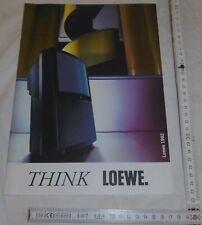 katalog prospekt heft think loewe tv video cam corder sat 1992 top deko 59 seit