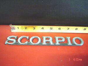 Sept 1988-1989 Merkur SCORPIO Part Emblem