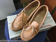 QUODDY WOMEN'S MOCCASINS - VINTAGE - NEW IN BOX - BUCK TAN- SIZE 5