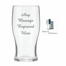 Personalised Engraved Pint Beer Glass - Christmas Gift For Him Her Men Women NB