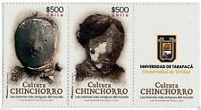 Chile 2014 #2523-24 Cultura Chinchorro MNH Viñeta Universidad de Taparaca