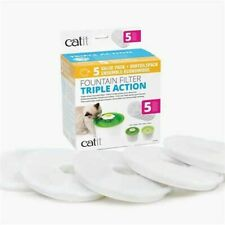Catit 43745 Triple Action Fountain Filter 5 Pack