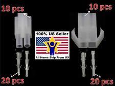 10 pair Big 2p White Tamiya connector plug RC car/airsoft LiPo/NiMh Battery/ESC