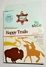 Making Memories Slice Design Card Happy Trails 33752 Western Cowboy