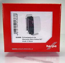 Herpa LKW  053686  Schwerlastturm für Mercedes-Benz Actros SLT -  weiß