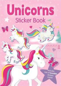 Unicorn Girls Unicorns Sticker Book Stickers Colouring Activity Gift
