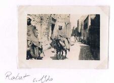 PHOTO ANCIENNE - VINTAGE SNAPSHOT - MAROC ÂNES RUE RABAT  - STREET DONKEY